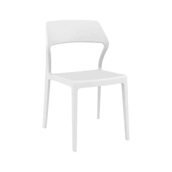 Chaise empilable design en plastique blanc- Snow - 21