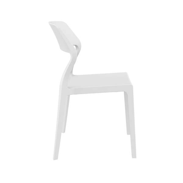 Chaise de jardin empilable design en plastique blanc - Snow - 19