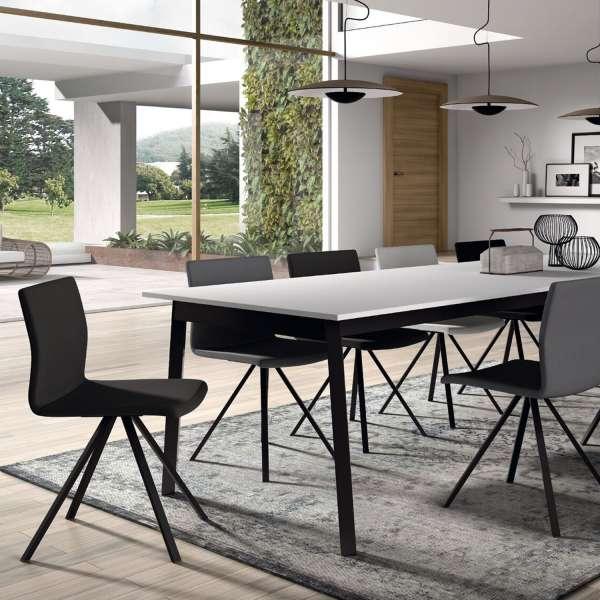 Table avec allonge en stratifié et métal - Victoria - 3