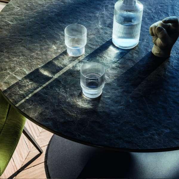 Table ronde pied central en céramique et métal - Infinity Midj® - 2