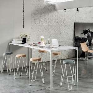 Tabouret snack design sans dossier assise synthétique pieds géométriques - Jump Apelle Midj®