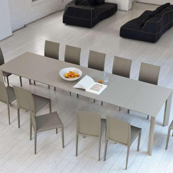 Table extensible en mélaminé et métal - Ghedi Midj® - 2