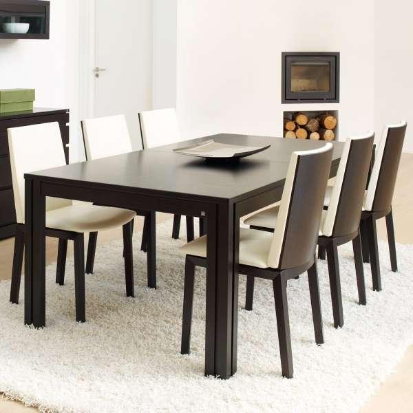 Table scandinave en bois très foncé extensible - SM 23 -24 - 10