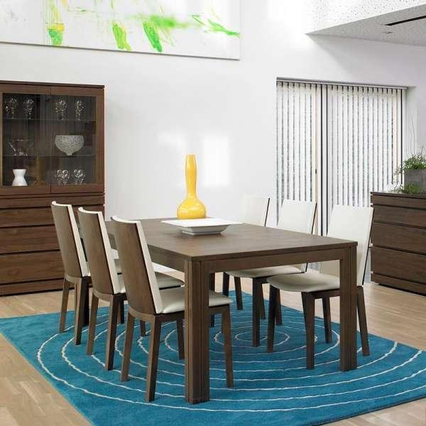 Table en bois foncé extensible - SM23 -24 - 8