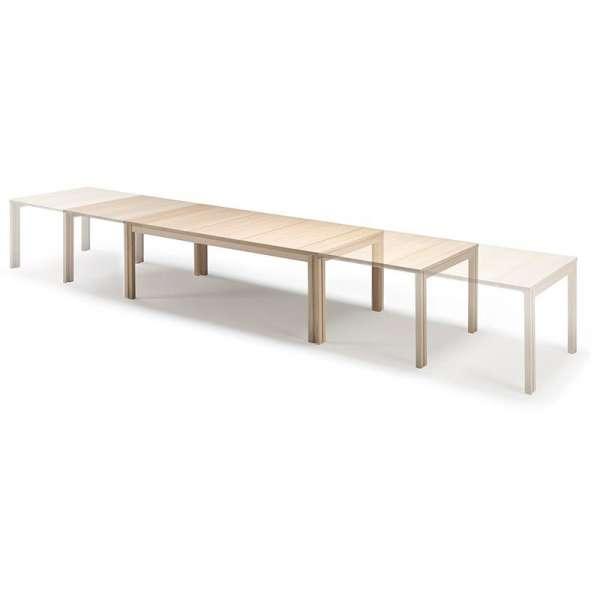 Table scandinave rectangulaire en bois avec allonges - SM23 -24 - 19