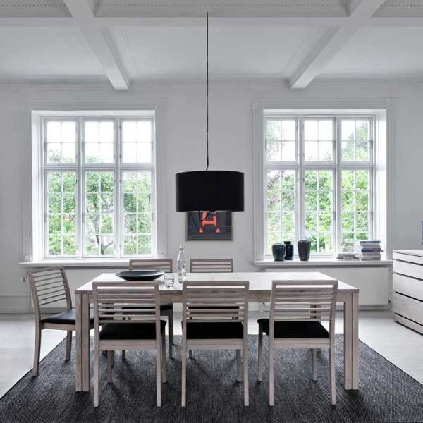 Table scandinave rectangulaire en bois avec allonges - SM23 -24 - 4