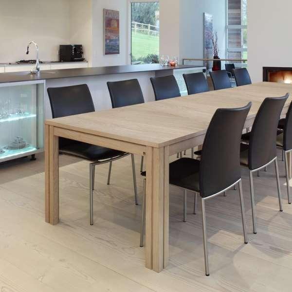 Table en bois naturel avec allonges - SM23 -24 - 6