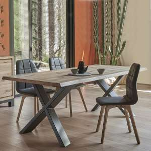 Table de séjour design extensible en bois et métal - Forest