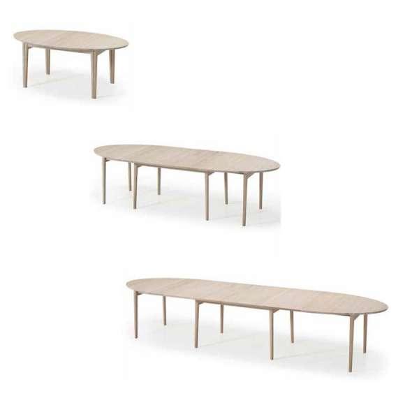 Table extensible ovale en bois naturel style scandinave - SM78 - 7