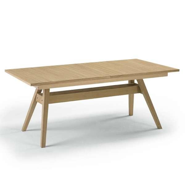 Table de séjour scandinave extensible en bois naturel - SM11 - 8
