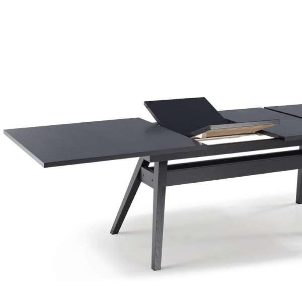Table de séjour scandinave extensible en bois noir - SM11 - 7