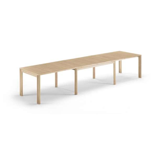 Table scandinave en bois avec allonges - SM23 -24 - 20