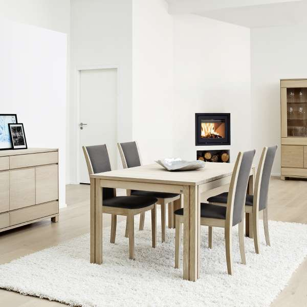 Table scandinave en bois naturel extensible - SM23-24 - 3