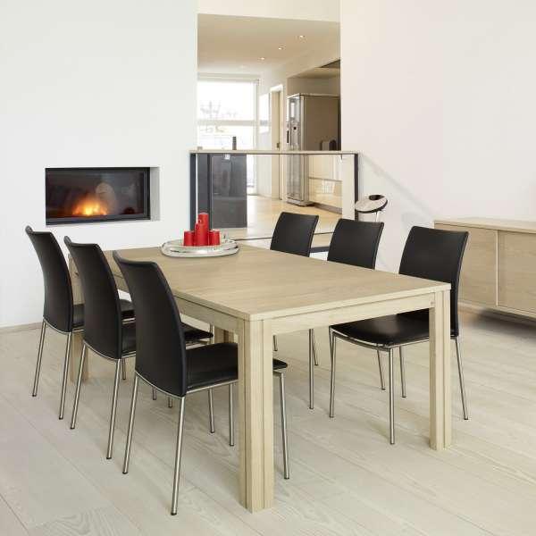Table scandinave en bois naturel avec allonges - SM23-24 - 2