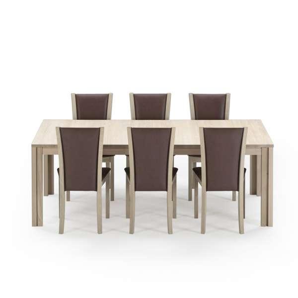 Table avec allonge scandinave en bois moyen - SM23-24 - 15