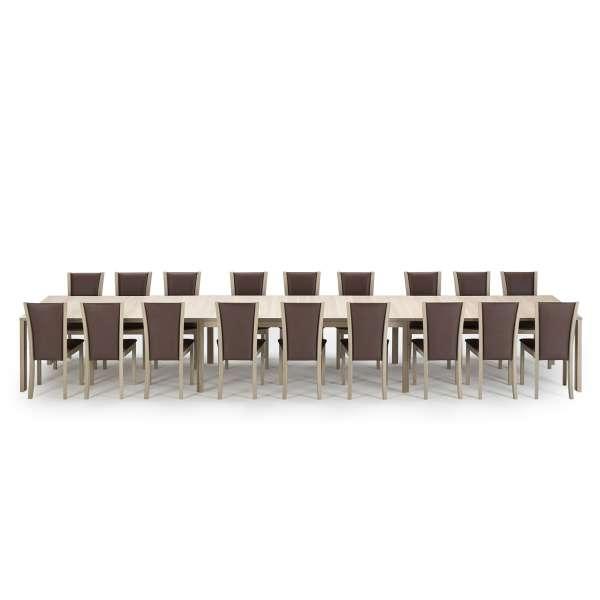 Table ultra extensible scandinave en bois naturel avec allonges - SM23 -24 - 22