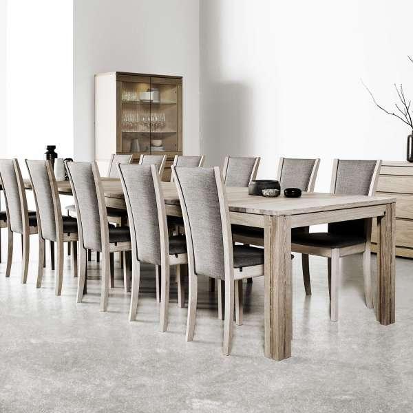 Grande table en bois moyen extensible - SM23 -24 - 9