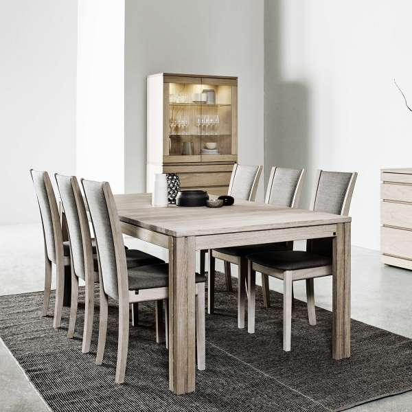 Table scandinave rectangulaire en bois moyen extensible - SM23-24 - 5