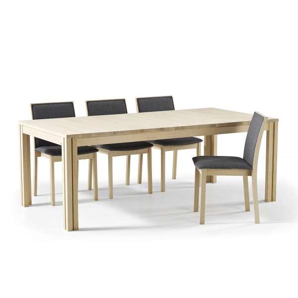 Table extensible scandinave en bois clair - SM23-24 - 18