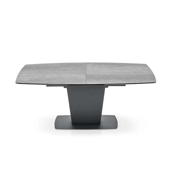 Table de salle à manger extensible en céramique grise - Athos Connubia® - 13