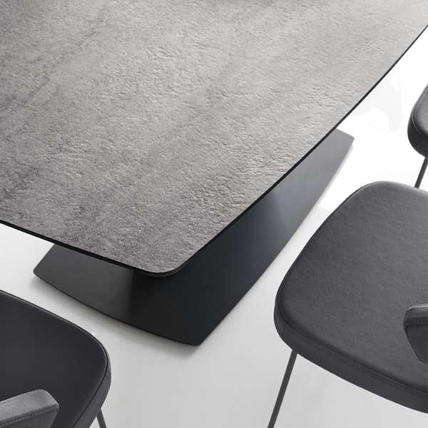 Table rectangulaire avec allonges en céramique grise - Athos Connubia® - 10