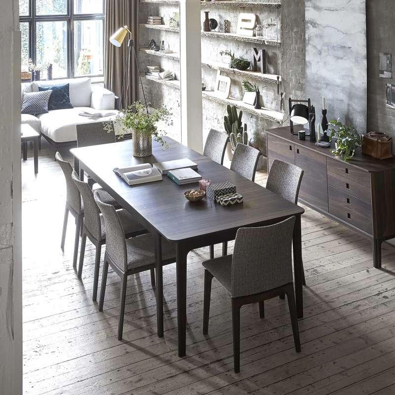 Table de salle manger scandinave en bois avec allonges - Salle a manger en bois ...
