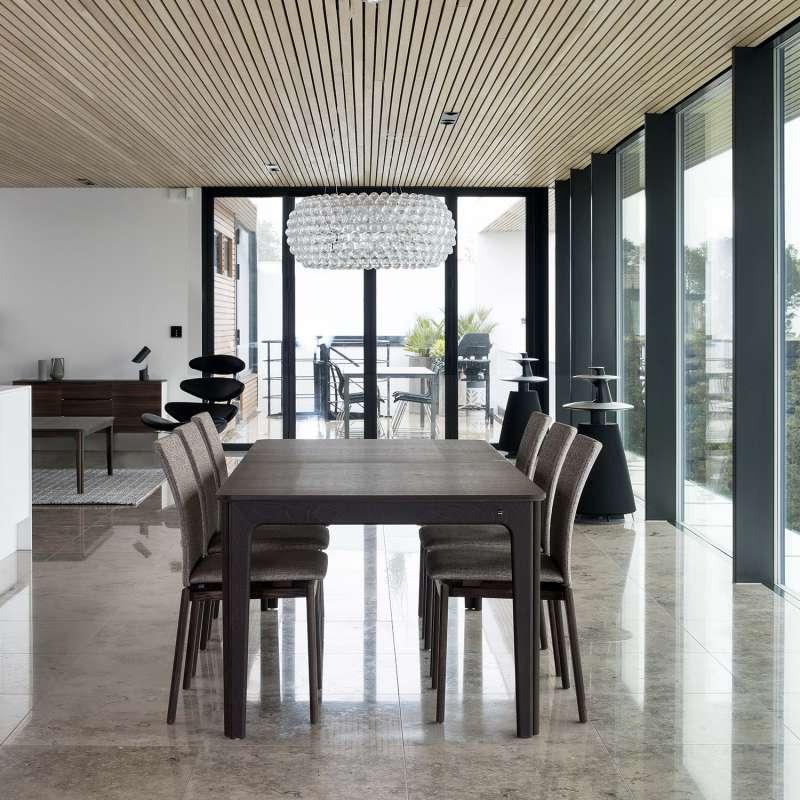 table de salle manger scandinave en bois avec allonges. Black Bedroom Furniture Sets. Home Design Ideas