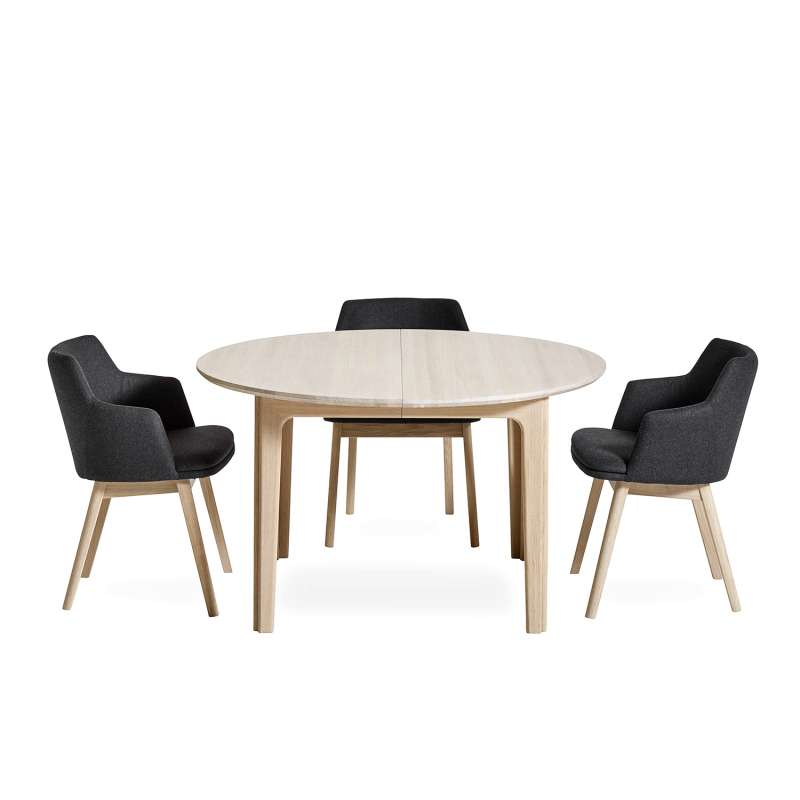 Table Ronde Scandinave Extensible.Table Ronde En Bois Style Scandinave Extensible Sm112