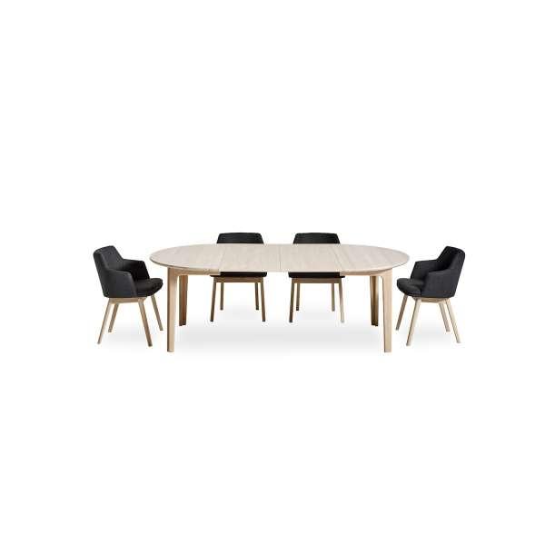 Table en bois naturel scandinave avec allonges - SM112 - 7