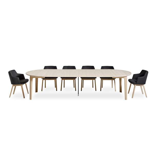 Table scandinave ronde en bois naturel extensible - SM112 - 8
