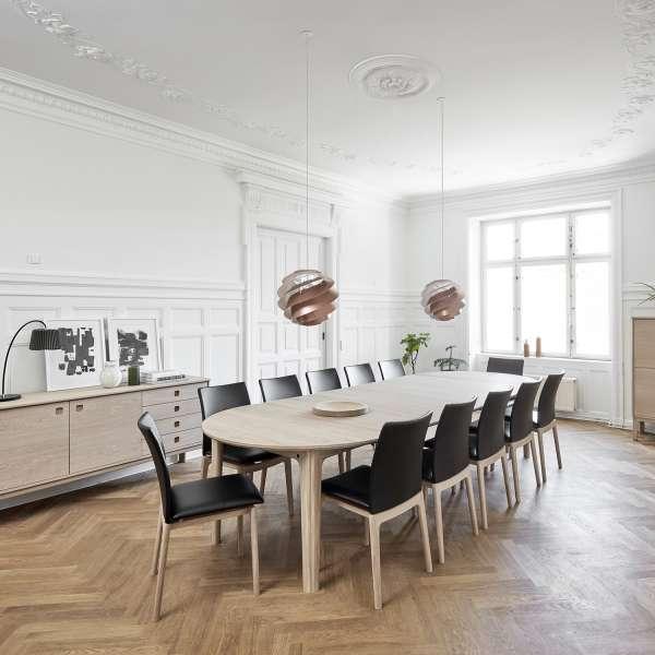 Table ronde scandinave en bois naturel extensible - SM112 - 3