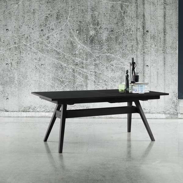 Table scandinave avec allonges en bois noir - SM11 - 2