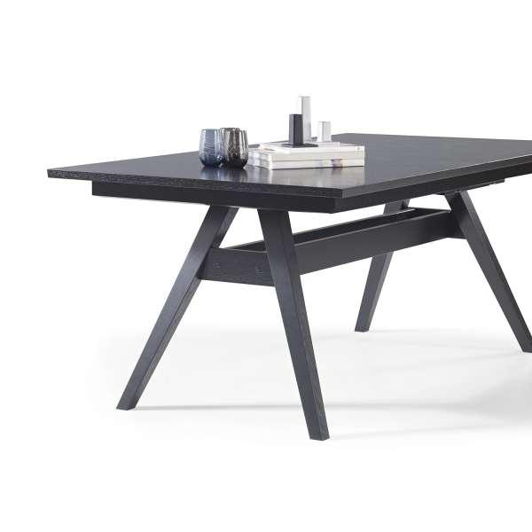 Table de séjour scandinave extensible en bois wengé noir - SM11 - 6