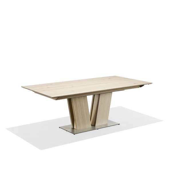 Table en bois naturel extensible avec pied central - SM39 - 8