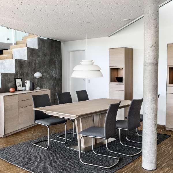 Table en bois moderne extensible avec pied central - SM39 - 5