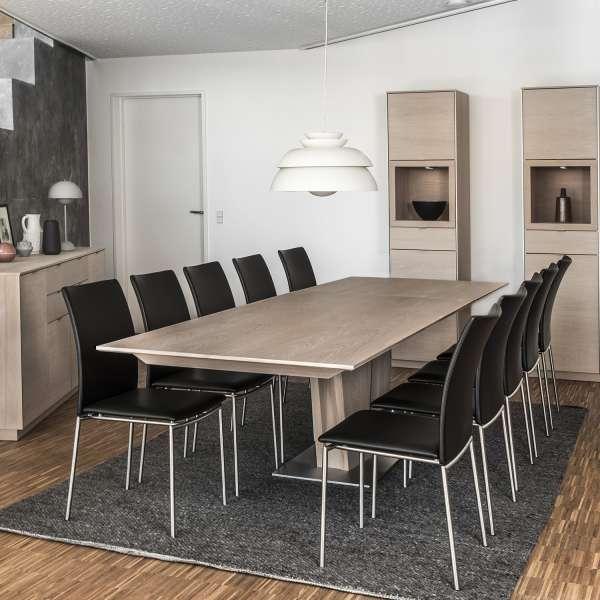 Table en bois naturel extensible avec pied central - SM39 - 7
