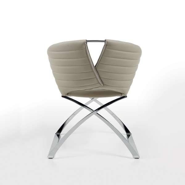 Fauteuil design synthétique marron Portofino Midj® - 4