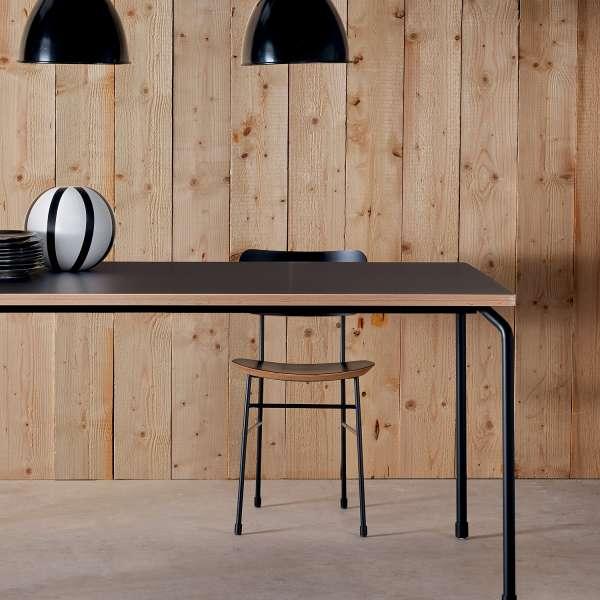 Chaise vintage esprit scolaire en fénix noir et métal noir - Master S Midj® - 2