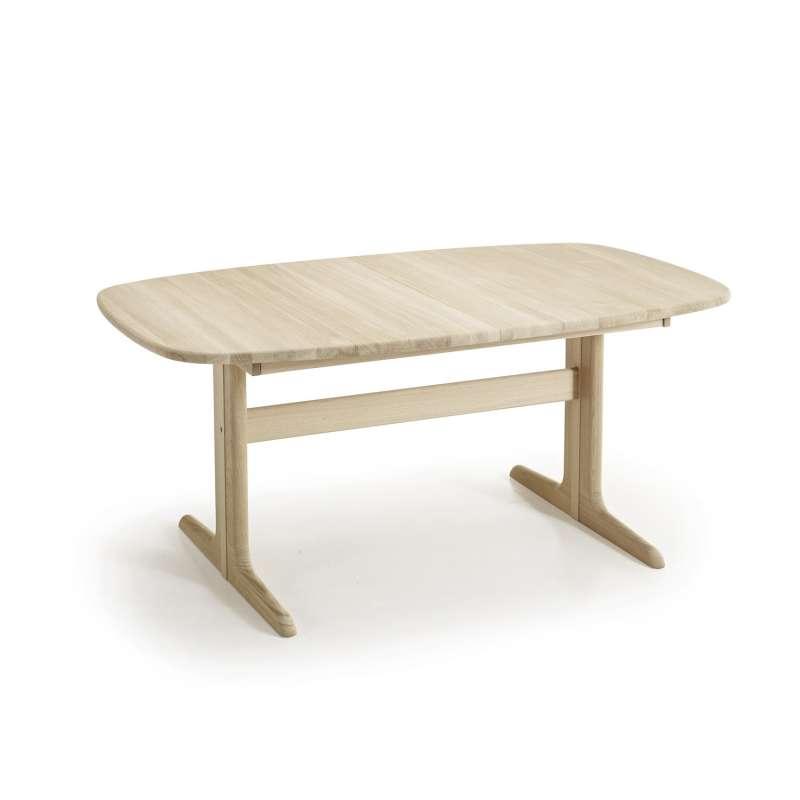 Piétement Latéral Et En Massif Scandinave Table Avec Elliptique Allonges Sm74 Bois 54RAj3L