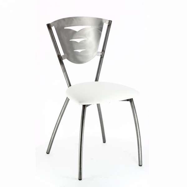 Chaise de cuisine en métal industriel fabriquée en France - Hévéa - 4