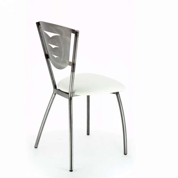 Chaise de cuisine en métal industrie fabrication française - Hévéa - 5