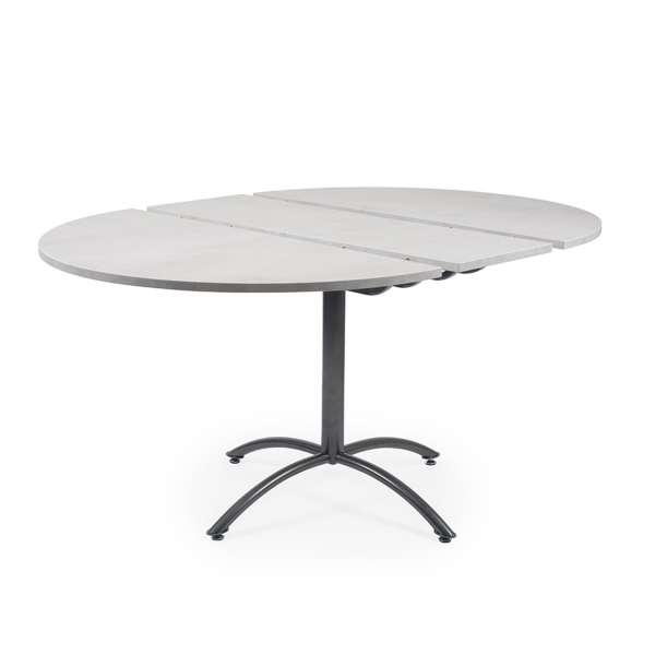 Table pied central avec allonges en mélaminé et métal - Rio Twin - 7