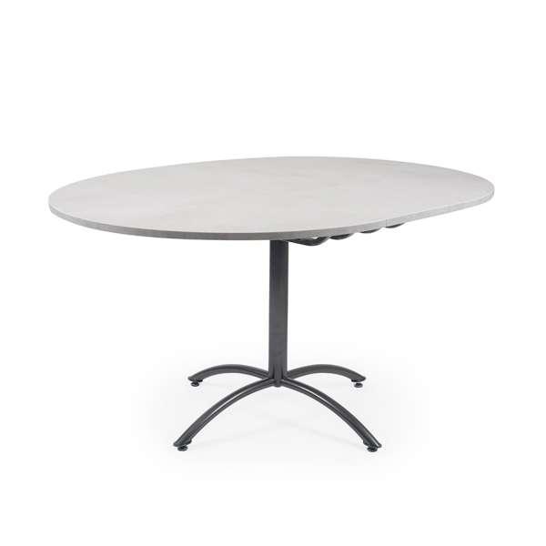 Table ronde pied central extensible en mélaminé et métal - Rio Twin - 8