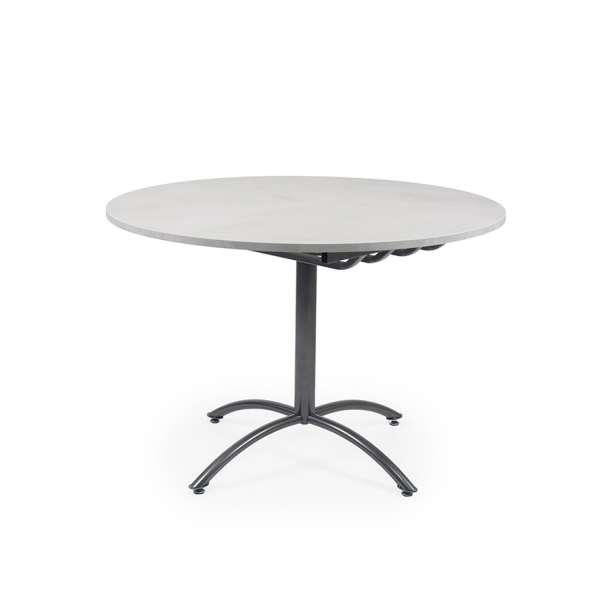 Table ronde pied central extensible en mélaminé et métal - Rio Twin - 3
