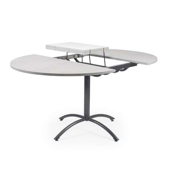 Table ronde pied central en mélaminé et métal - Rio Twin - 5