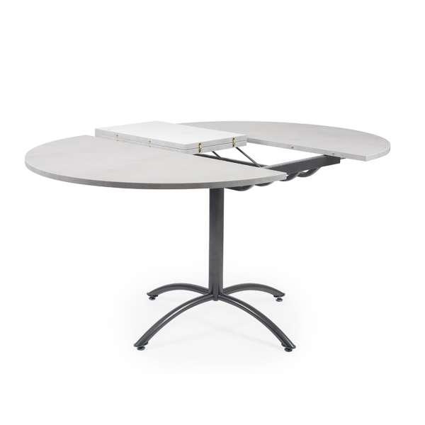 Table pied central extensible en mélaminé et métal - Rio Twin - 6