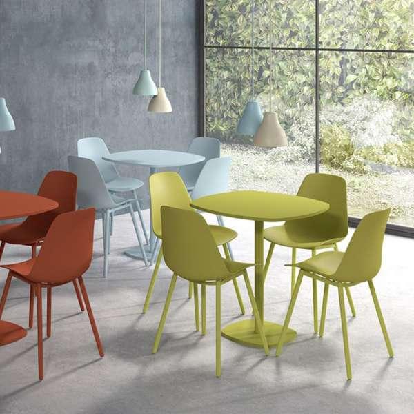 Chaise moderne en polypropylène coloré et métal - Claudio - 7