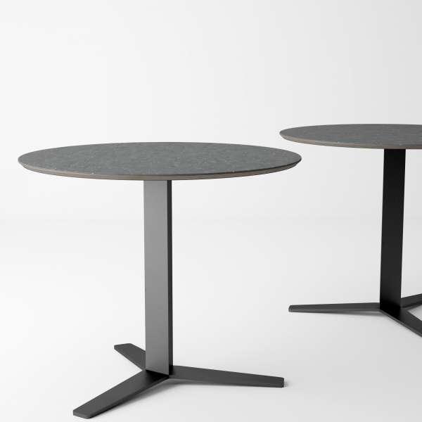 Table ronde petite cuisine en céramique et métal - Peliccan - 2