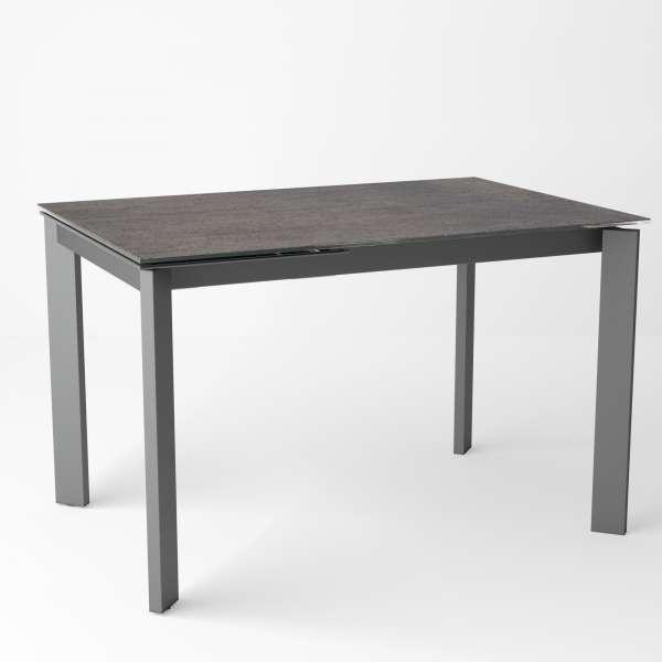 Table petit espace extensible en céramique effet oxydé - Poker - 10