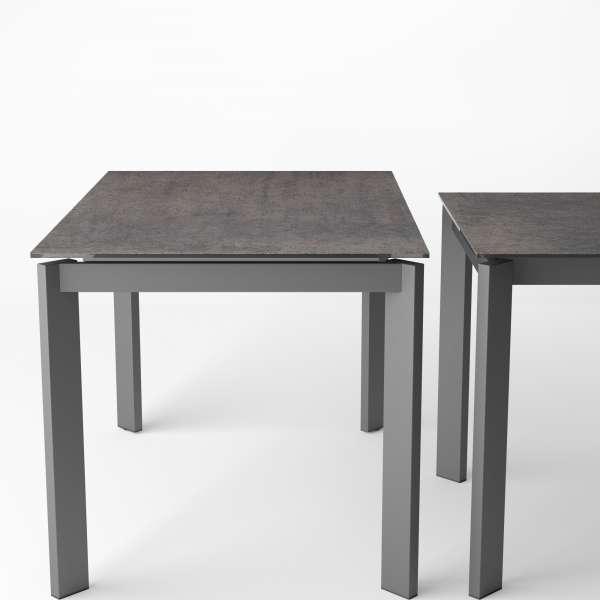 Table pour petite cuisine extensible en céramique effet oxydé - Poker - 11